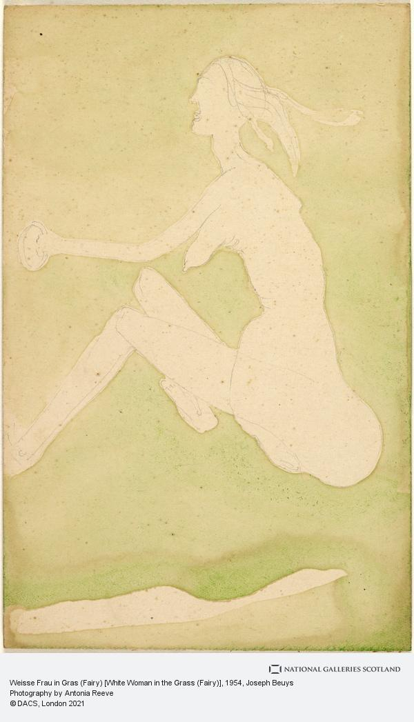 Joseph Beuys, Weisse Frau in Gras (Fairy) [White Woman in the Grass (Fairy)] (1954)