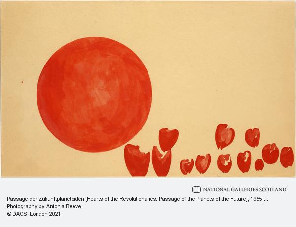 Joseph Beuys, Passage der Zukunftplanetoiden [Hearts of the Revolutionaries: Passage of the Planets of the Future] (1955)