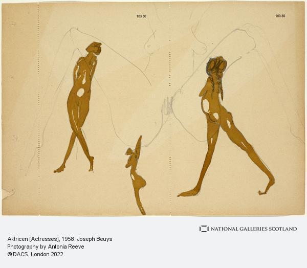 Joseph Beuys, Aktricen [Actresses] (1958)