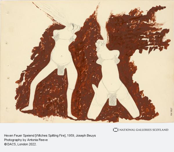 Joseph Beuys, Hexen Feuer Speiend [Witches Spitting Fire] (1959)
