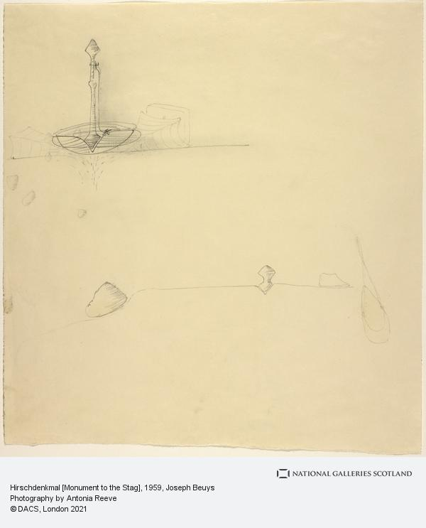 Joseph Beuys, Hirschdenkmal [Monument to the Stag] (1959)