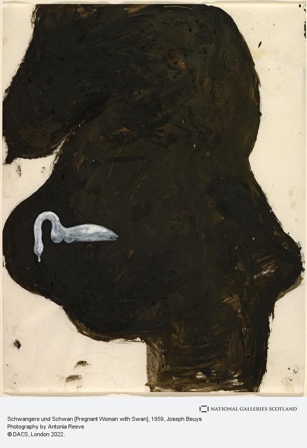 Joseph Beuys, Schwangere und Schwan [Pregnant Woman with Swan] (1959)