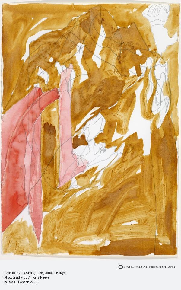 Joseph Beuys, Granite in Arid Chalk (1965)