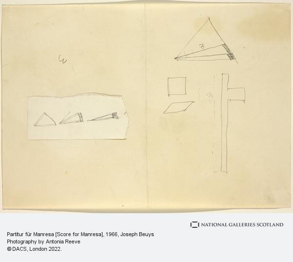 Joseph Beuys, Partitur für Manresa [Score for Manresa] (1966)