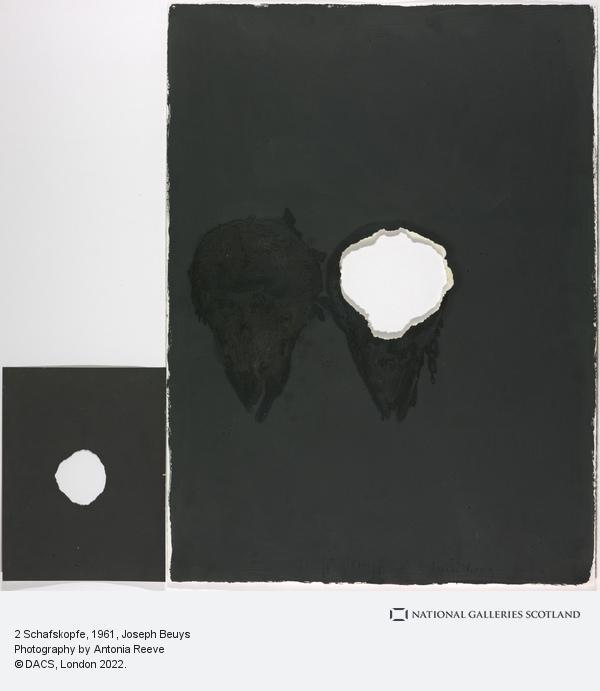 Joseph Beuys, 2 Schafskopfe [2 Sheep's Heads] (1961-1975)