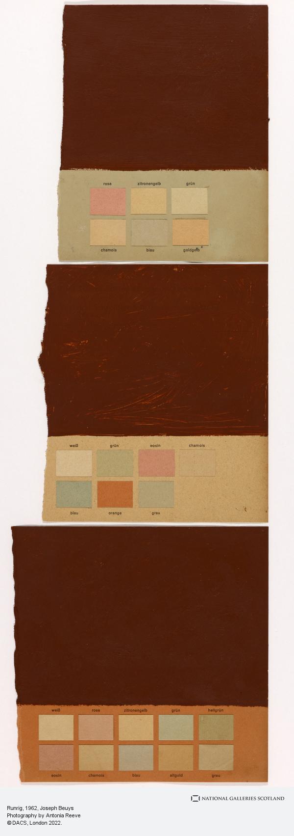 Joseph Beuys, Runrig (1962-1972)