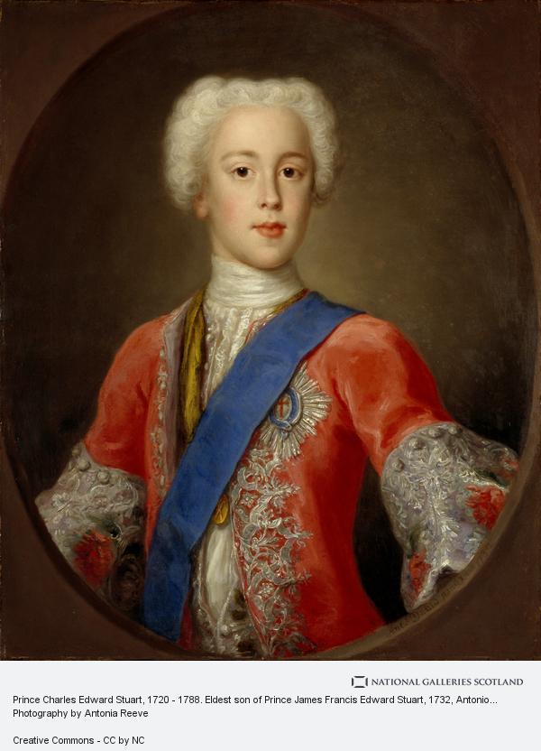 Antonio David, Prince Charles Edward Stuart, 1720 - 1788. Eldest son of Prince James Francis Edward Stuart
