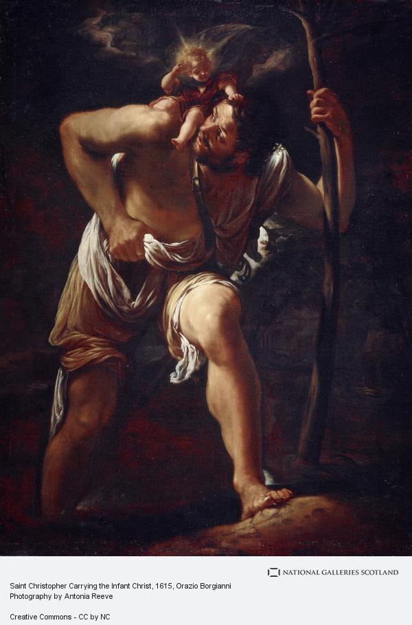 Orazio Borgianni, Saint Christopher Carrying the Infant Christ