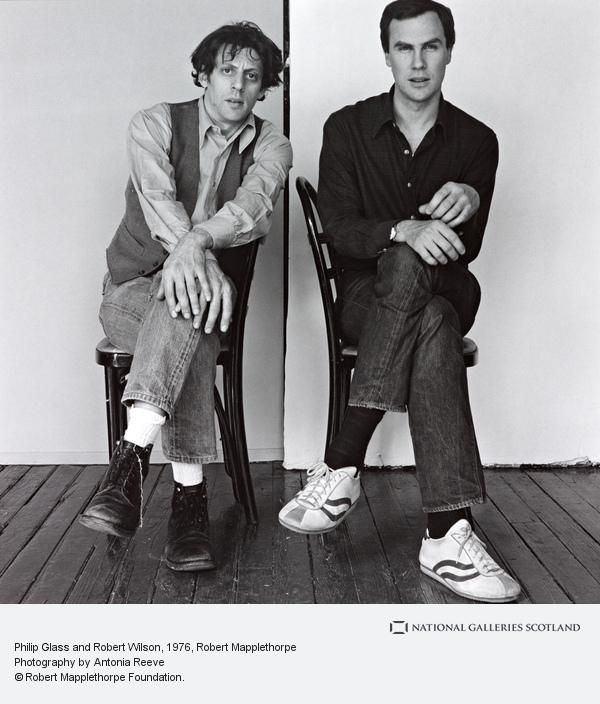 Robert Mapplethorpe, Philip Glass and Robert Wilson (1976)