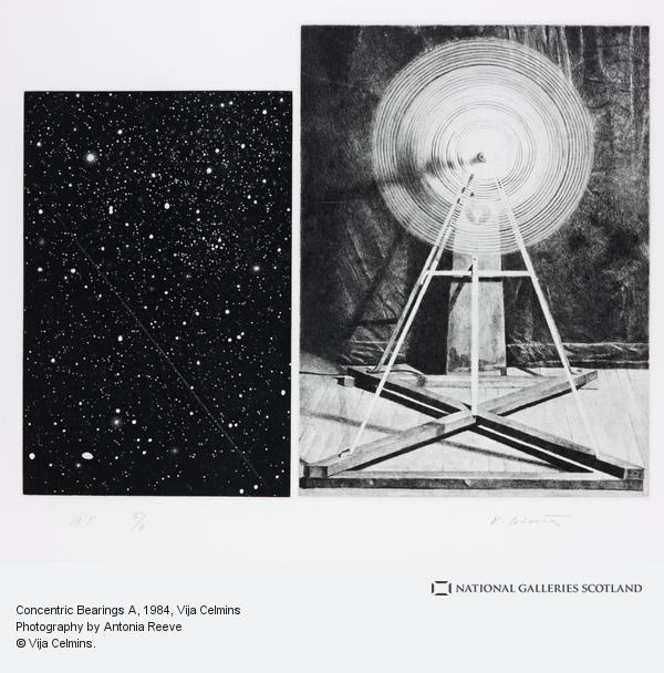 Vija Celmins, Concentric Bearings A (1984)