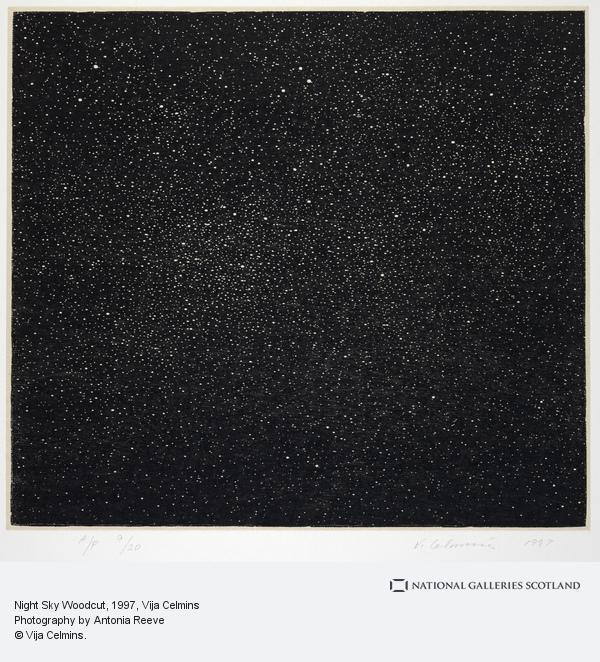 Vija Celmins, Night Sky Woodcut (1997)