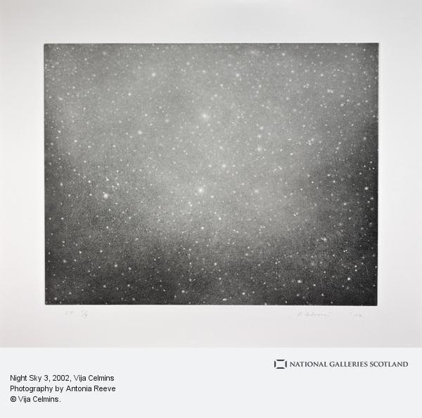 Vija Celmins, Night Sky 3