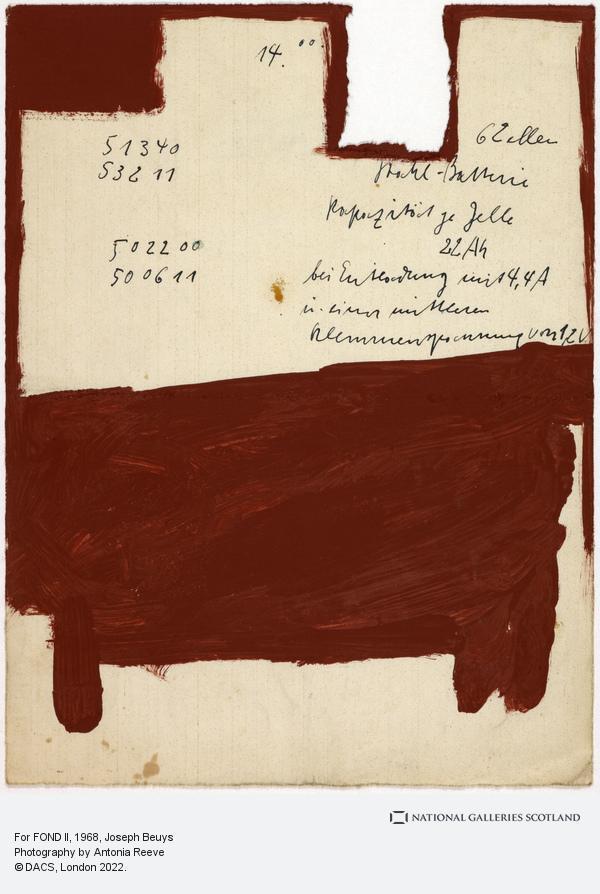 Joseph Beuys, For FOND II (1968)