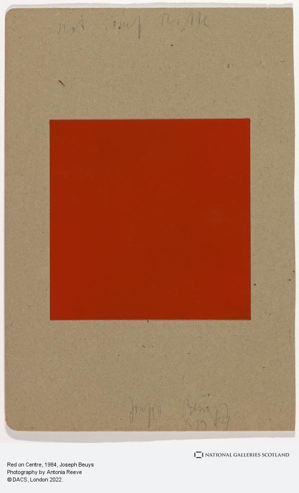 Joseph Beuys, Red on Centre (1984)