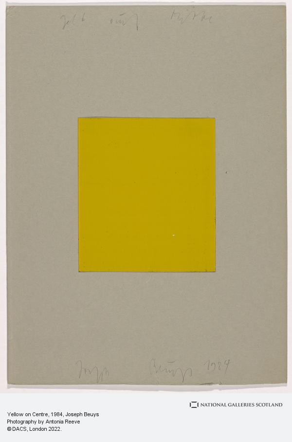 Joseph Beuys, Yellow on Centre (1984)