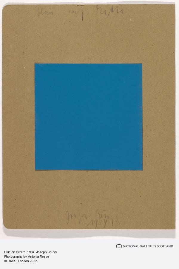 Joseph Beuys, Blue on Centre (1984)