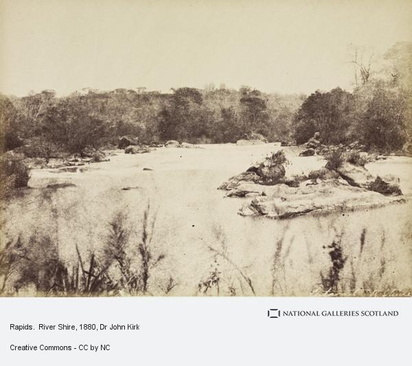 Dr John Kirk, Rapids.  River Shire
