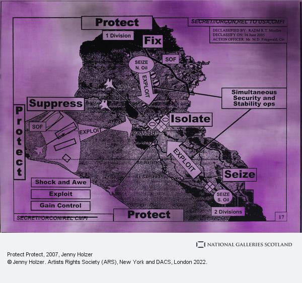 Jenny Holzer, Protect Protect (2007)