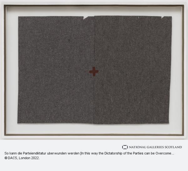 Joseph Beuys, So kann die Parteiendiktatur uberwunden warden [In this way the Dictatorship of the Parties can be Overcome] (1971)