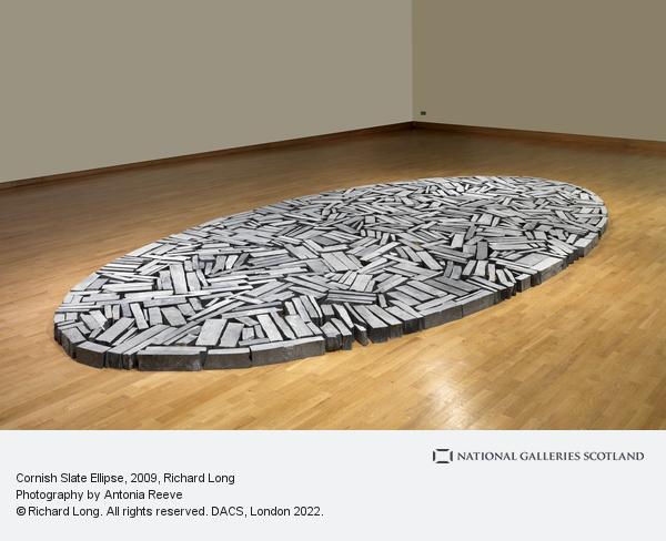 Richard Long, Cornish Slate Ellipse (2009)