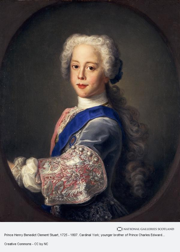 Antonio David, Prince Henry Benedict Clement Stuart, 1725 - 1807. Cardinal York; younger brother of Prince Charles Edward (1732)