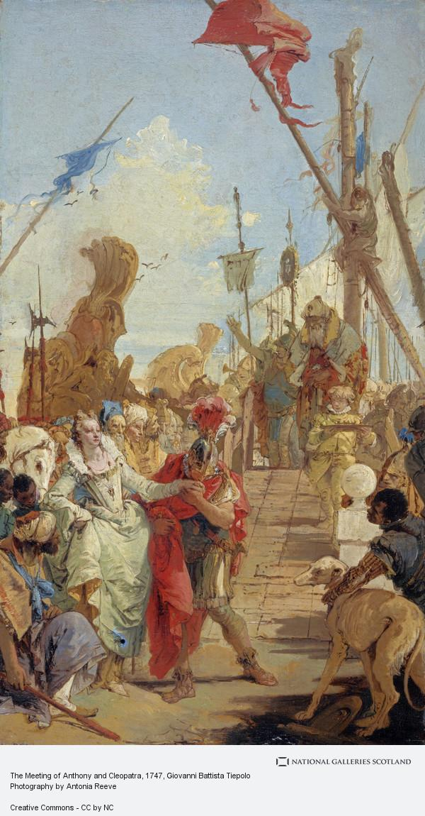 Giovanni Battista Tiepolo, The Meeting of Anthony and Cleopatra