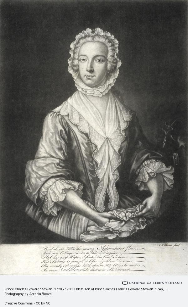 J. Williams, Prince Charles Edward Stewart, 1720 - 1788. Eldest son of Prince James Francis Edward Stewart (About 1746)