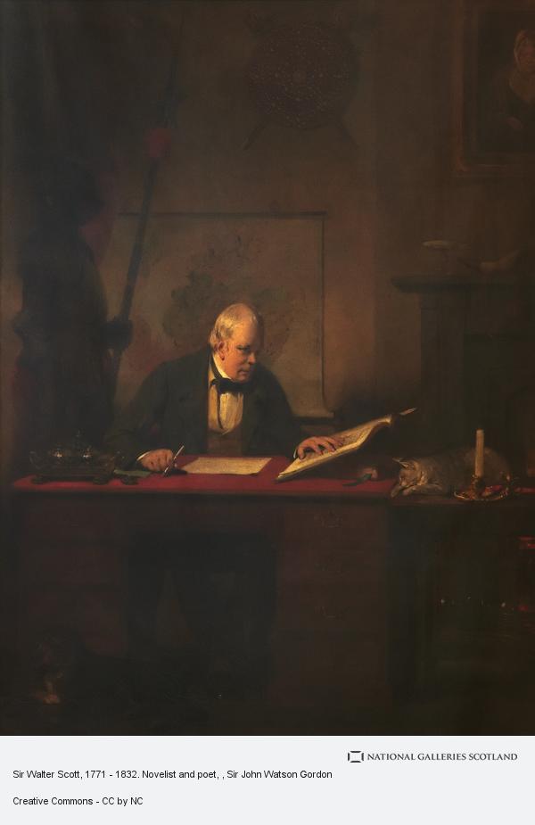 Sir John Watson Gordon, Sir Walter Scott, 1771 - 1832. Novelist and poet