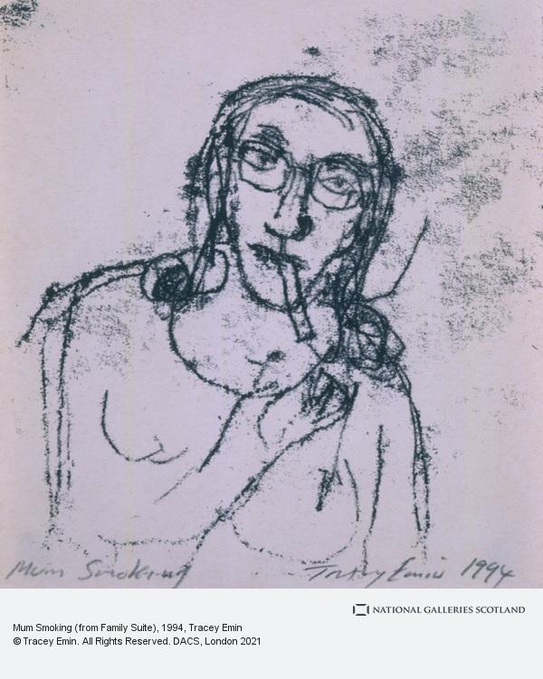 Tracey Emin, Mum Smoking (from Family Suite) (1994)