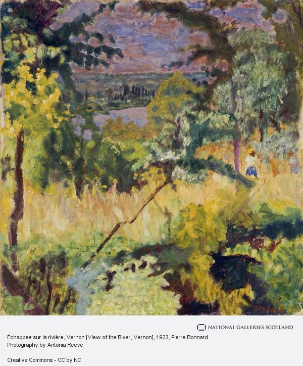 Pierre Bonnard, Échappee sur la rivière, Vernon [View of the River, Vernon]