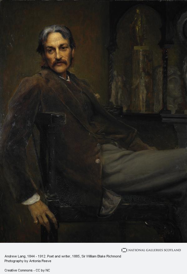Sir William Blake Richmond, Andrew Lang, 1844 - 1912. Poet and writer