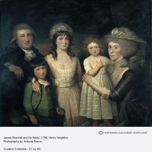 Henry Singleton, James Boswell and his family