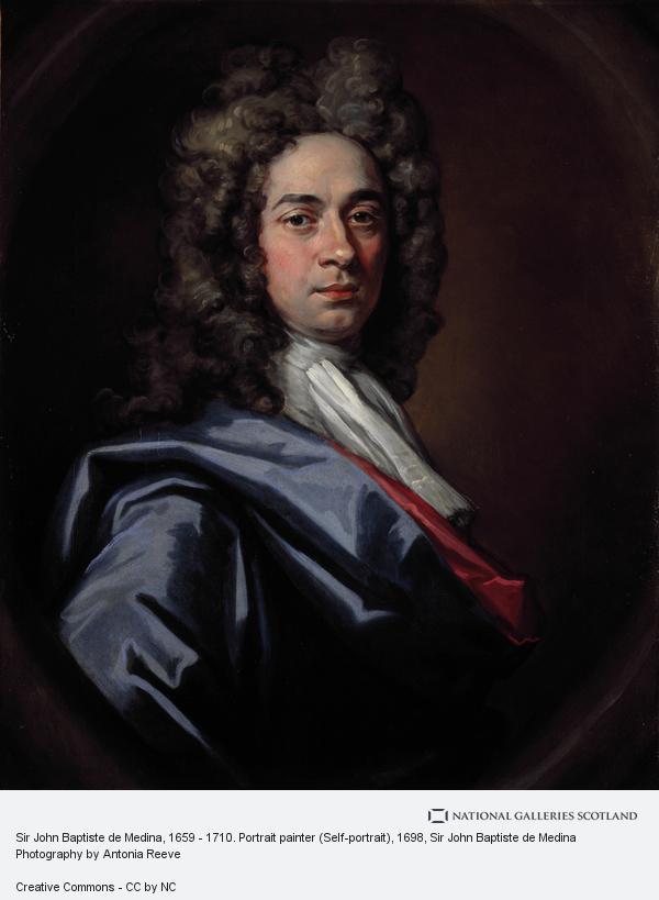 Sir John Baptiste de Medina, Sir John Baptiste de Medina, 1659 - 1710. Portrait painter (Self-portrait)