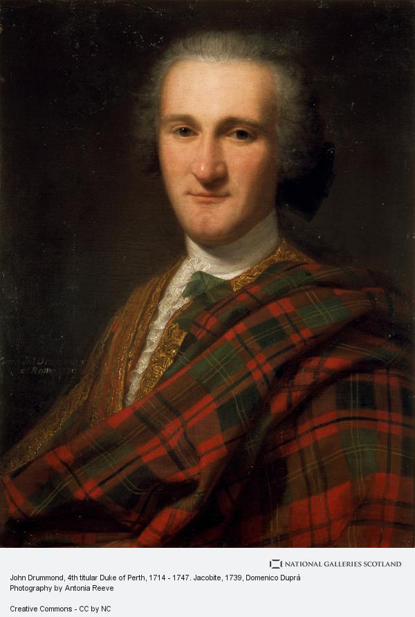 Domenico Duprà, John Drummond, 4th titular Duke of Perth, 1714 - 1747. Jacobite