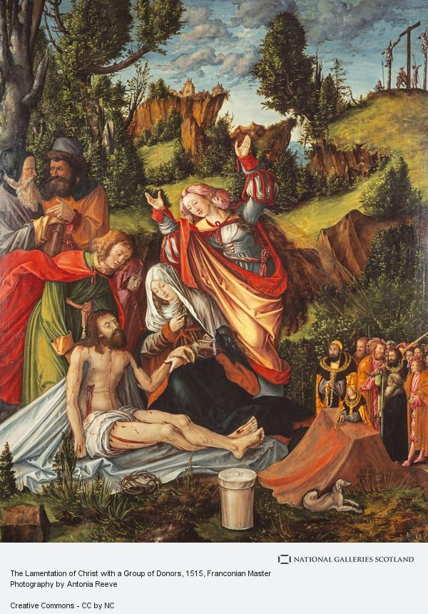 Franconian Master, The Lamentation of Christ with a Group of Donors (About 1515)