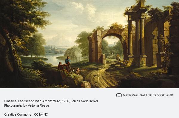 James Norie senior, Classical Landscape with Architecture