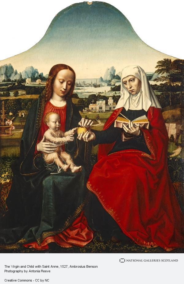 Ambrosius Benson, The Virgin and Child with Saint Anne