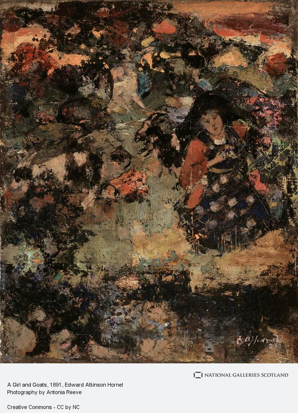 Edward Atkinson Hornel, A Girl and Goats