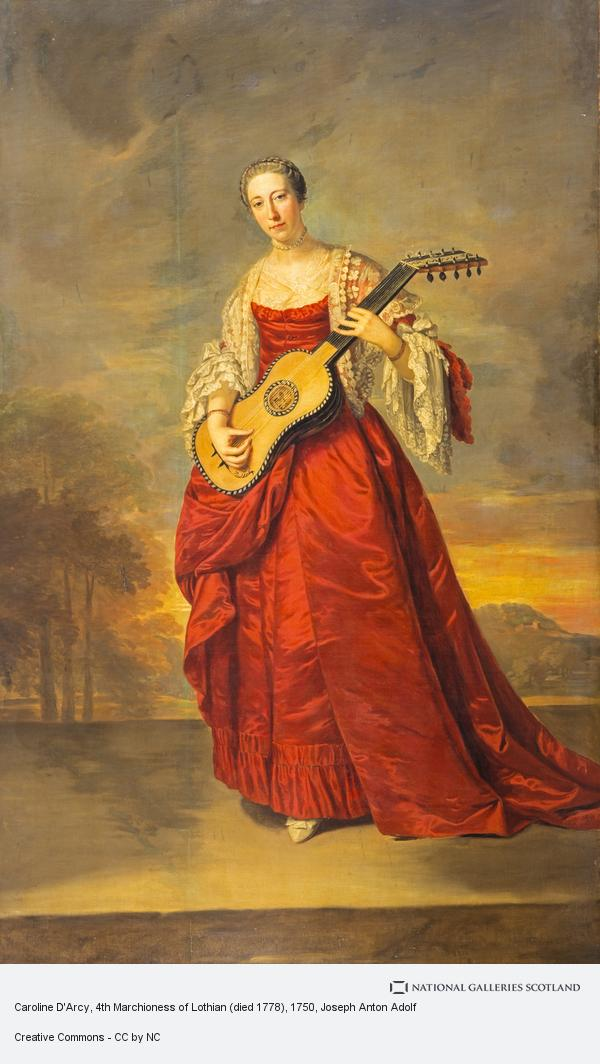 Joseph Anton Adolf, Caroline D'Arcy, 4th Marchioness of Lothian (died 1778) (About 1750)