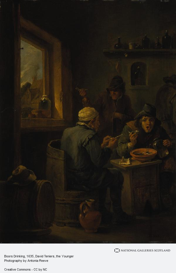 David Teniers, the Younger, Boors Drinking (1635 - 1640)