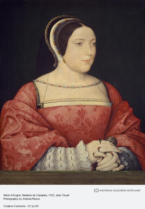Jean Clouet, Madame de Canaples (Marie d'Assigny, 1502 - 58) (About 1525)