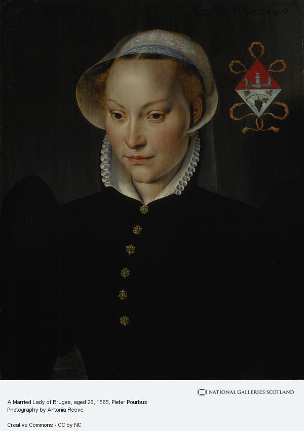 Pieter Pourbus, A Married Lady of Bruges, aged 26