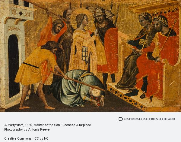 Master of the San Lucchese Altarpiece, A Martyrdom (About 1350)