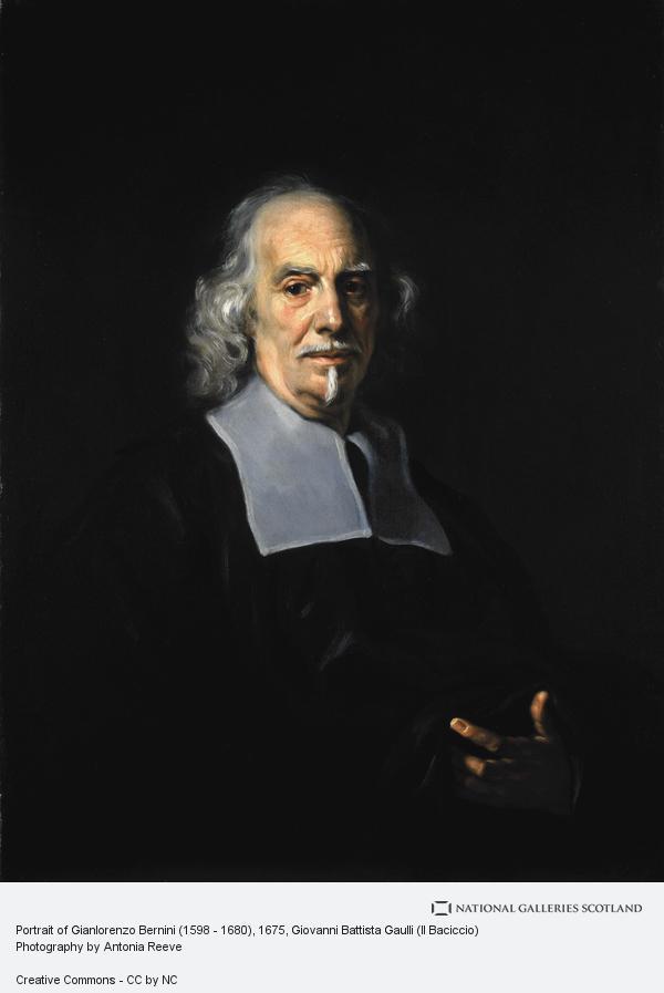 Giovanni Battista Gaulli, Portrait of Gianlorenzo Bernini (1598 - 1680)
