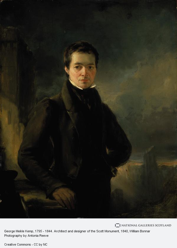 William Bonnar, George Meikle Kemp, 1795 - 1844. Architect and designer of the Scott Monument (About 1840)