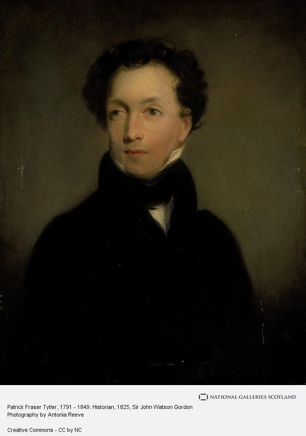 Sir John Watson Gordon, Patrick Fraser Tytler, 1791 - 1849. Historian (about 1825)