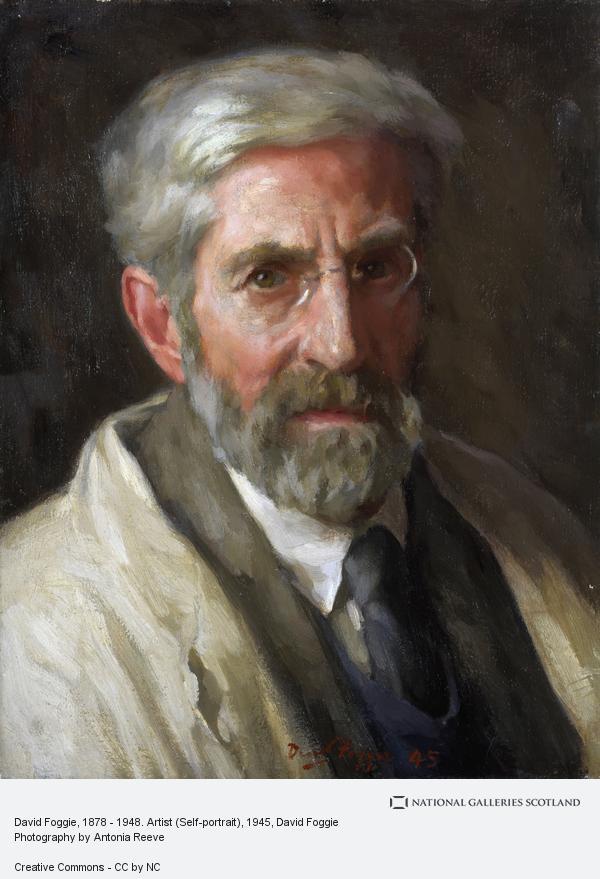 David Foggie, David Foggie, 1878 - 1948. Artist (Self-portrait) (1945)