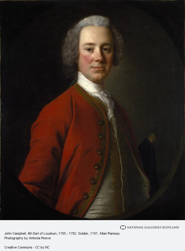 Allan Ramsay, John Campbell, 4th Earl of Loudoun, 1705 - 1782. Soldier (About 1747)