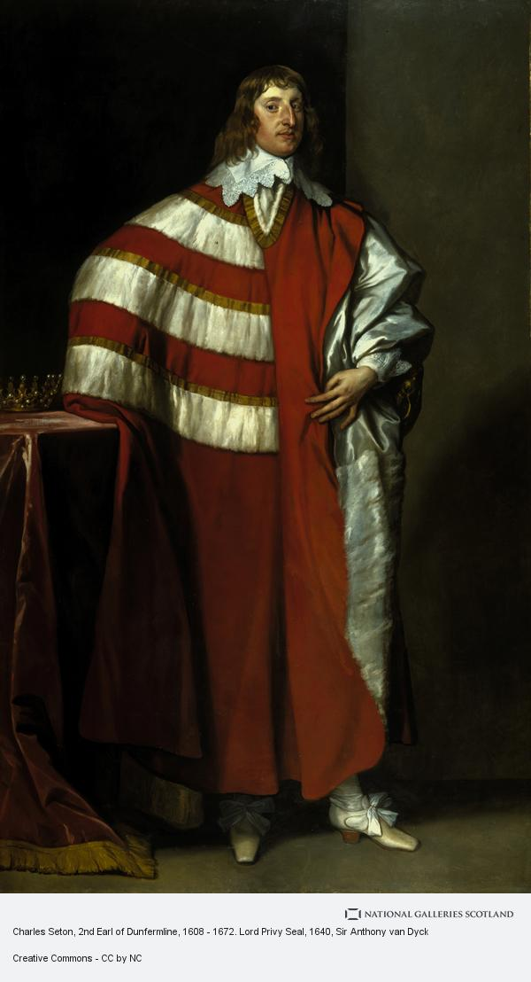 Sir Anthony van Dyck, Charles Seton, 2nd Earl of Dunfermline, 1608 - 1672. Lord Privy Seal (About 1640)