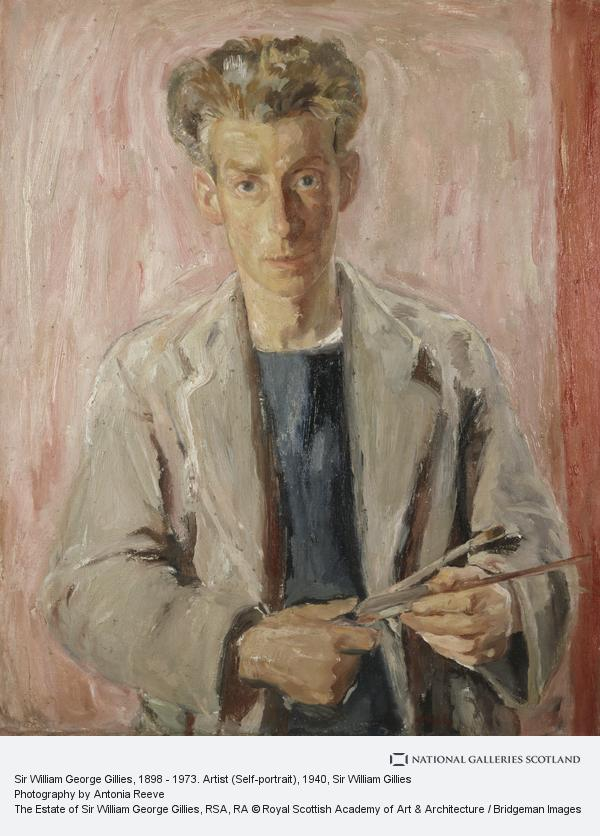 Sir William Gillies, Sir William George Gillies, 1898 - 1973. Artist (Self-portrait) (Dated 1940 (on the reverse))